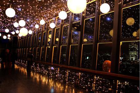 東京タワー内のイルミネーション
