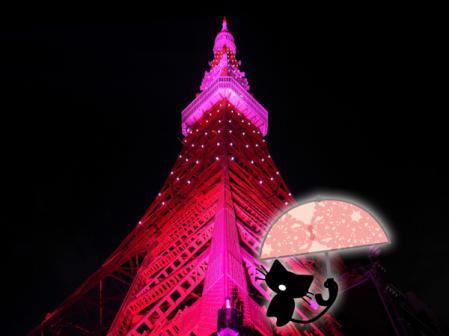 東京タワーにあこがれかにゃんこ
