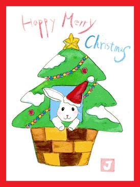クリスマス絵手紙