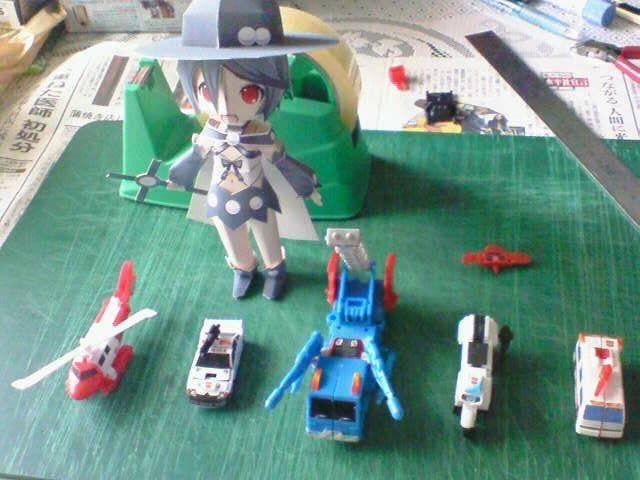 2012/05/13 プロテクトボットビークルモードと並べる