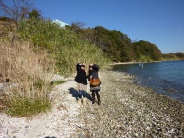 浜名湖にて