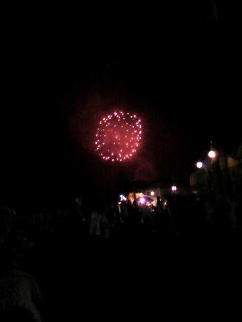 美里町やまびこ祭り…花火でフィナーレ