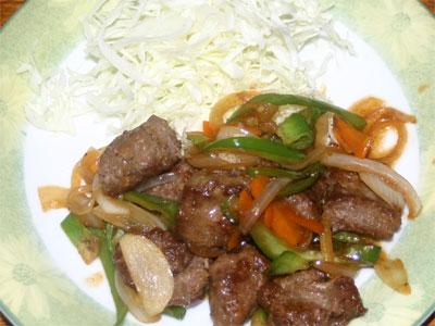 合いびき肉の焼肉4