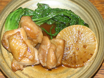 鶏照り焼きと干し野菜