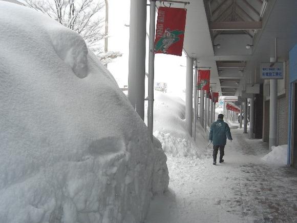 冬の柳町通り