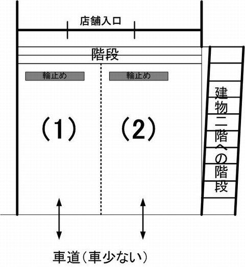 aoiku cafe駐車場見取り図