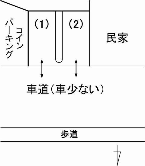 白壁Hanaco駐車場見取り図