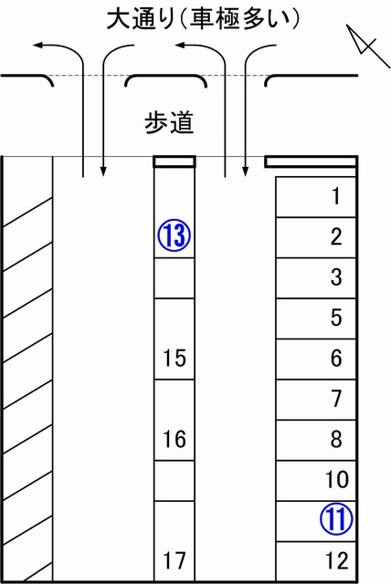 jumbo駐車場見取り図