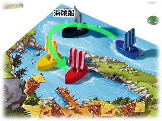 ワイルドバイキング・ボードゲーム:船の移動