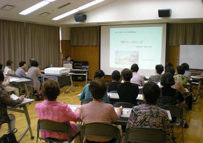 合同開級式で加藤先生から楽しい金沢ことば学習を