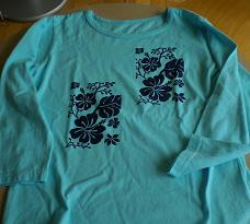 出来上がったTシャツです。