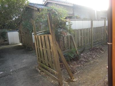 外柵の改修