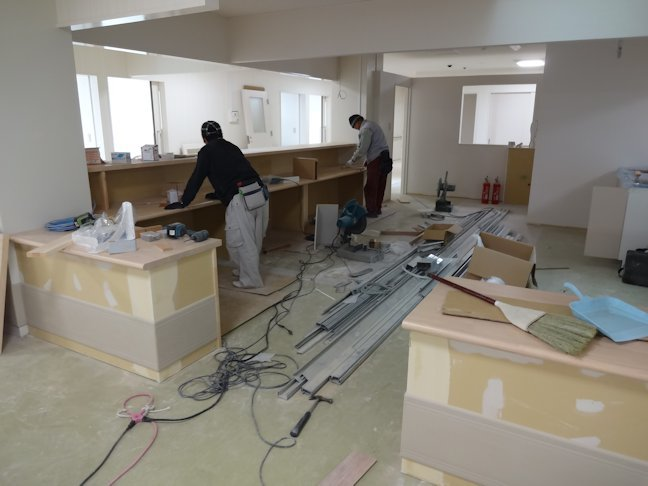 特別養護老人ホームいづはら2改修工事~内装仕上げ中 2