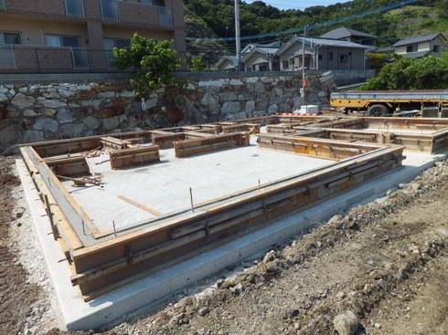 K邸住宅基礎工事~基礎コンクリート打設完了