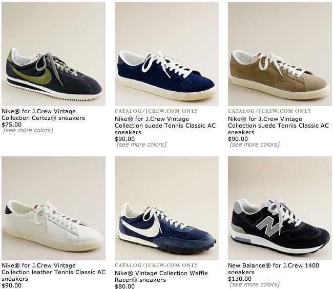 9e689b0c4fb8 ... Nike Vintage Collection  スニーカーといば、シンプルなものが最近の流行です。Jcrew といえば ...